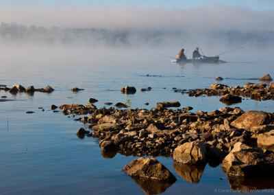 Ranní rybaření na Lipně