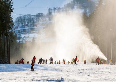 Zasněžování ve skiareálu Lipno